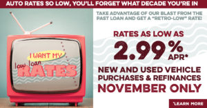 Blast from the Past Auto Loan Promotion